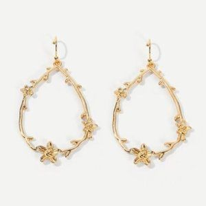 ZARA Classic Floral Statement Earrings